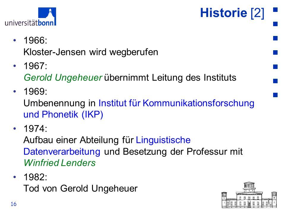 Historie [2] 1966: Kloster-Jensen wird wegberufen